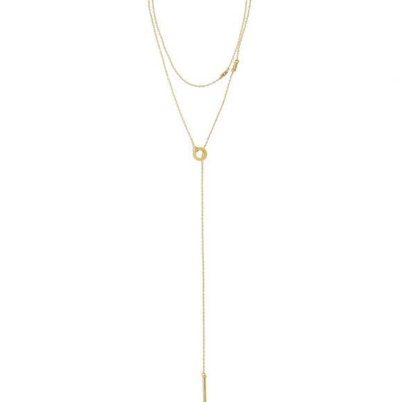 BaubleBar Jewelry - BaubleBar Lyssa Layered Lariat Necklace Gold Tone
